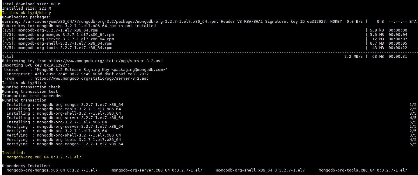 MongoDB-Instalação Pacote - Final